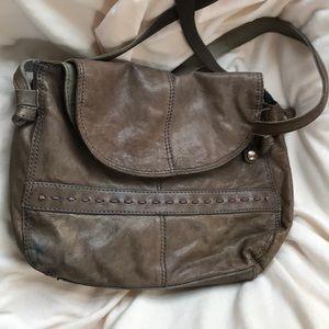 Gray Lucky Brand Italian Leather purse